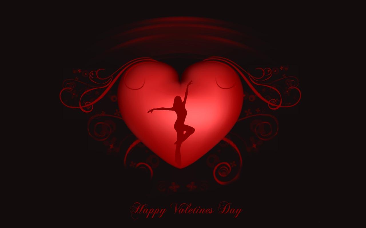 сердце и девушка в нем, Valentines Day Wallpaper, скачать обои для рабочего стола
