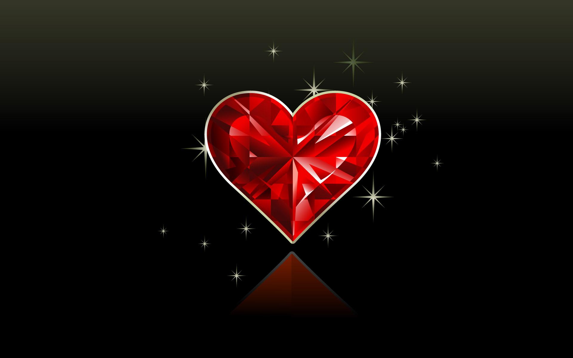Кристальное сердце, скачать обои для рабочего стола, heart, wallpaper