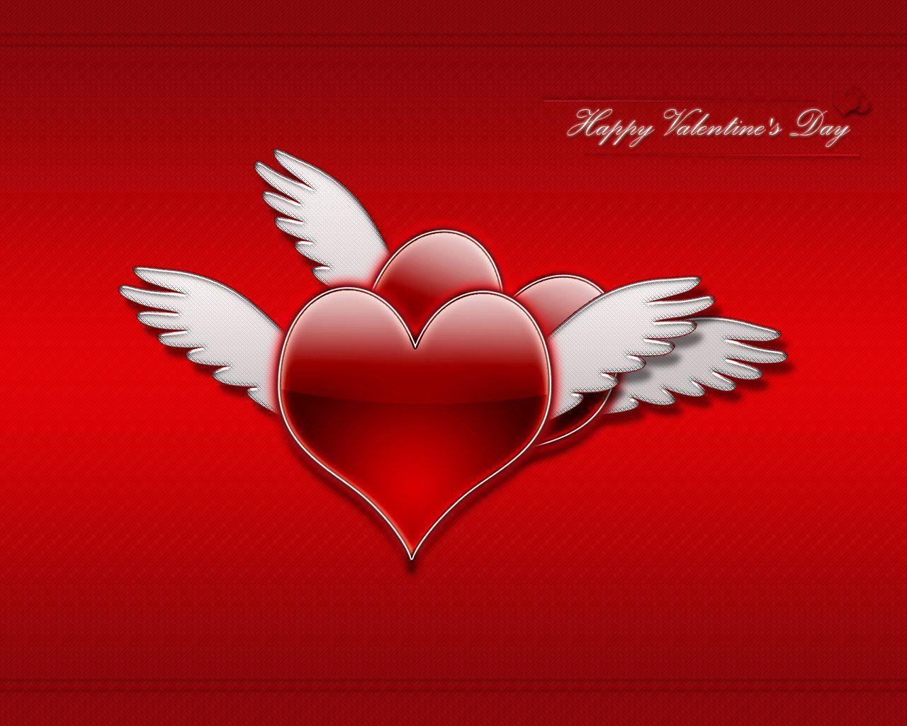 два сердца с крыльями, скачать фото, обои на рабочий стол, hearts