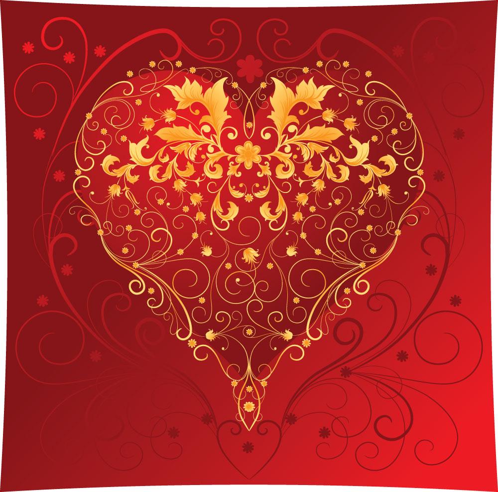 красочное сердце, скачать фото, обои  на рабочий стол
