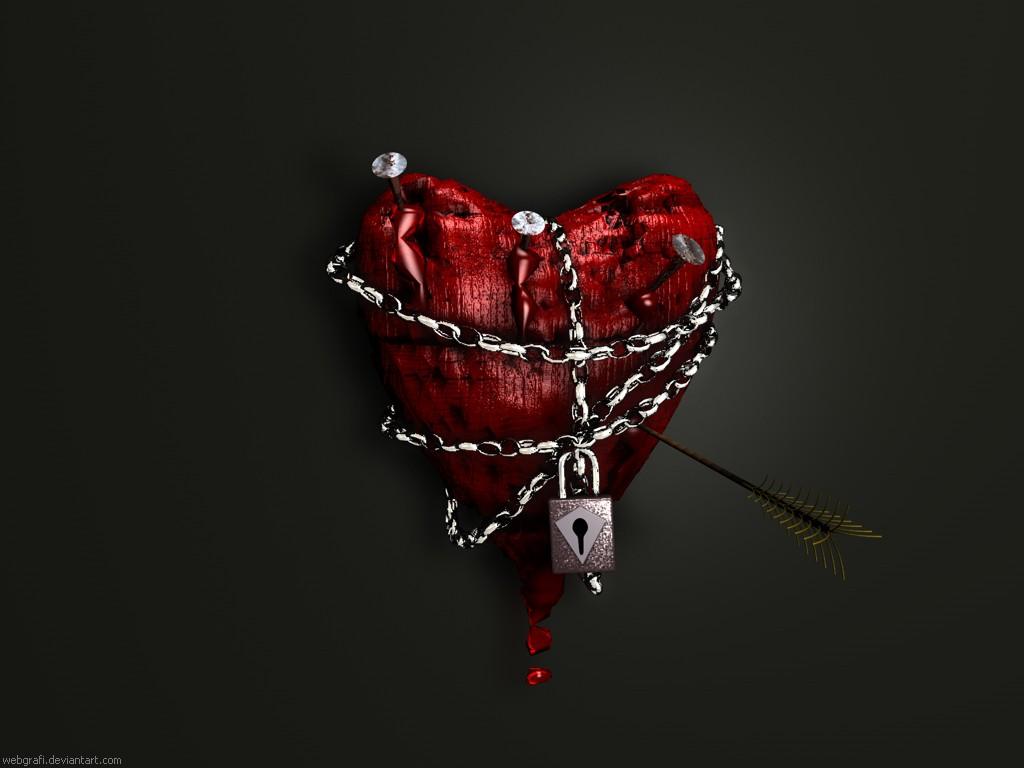 сердце в цепях, скачать фото, обои для рабочего стола