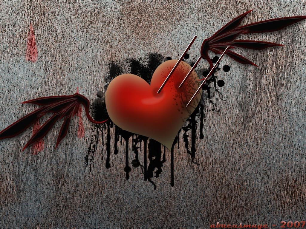 сердце с крыльями, скачать фото, обои для рабочего стола, heart with wings, wallpaper