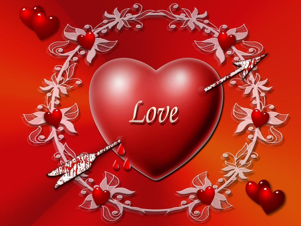 Любов, LOVE wallpaper, сердце проткнутое стрелой, скачать фото, обои для рабочего стола