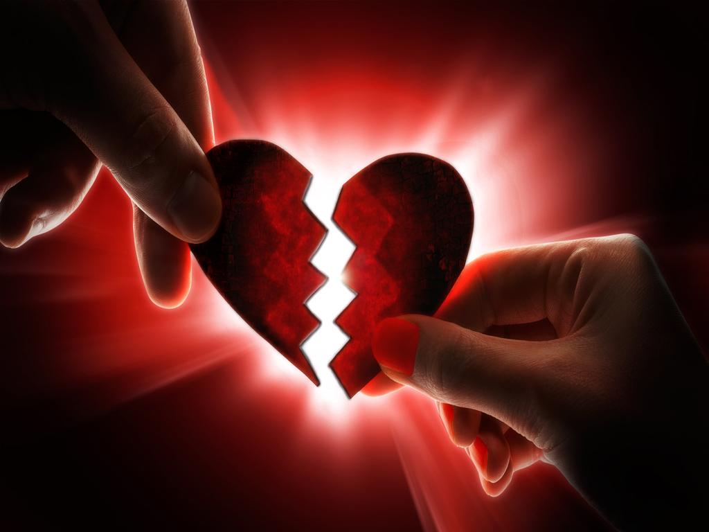 Две половинки разьитого сердца, скачать фото, обои для рабочего стола, broken heart