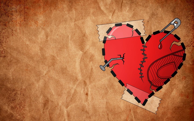 израненное, разбитое сердце, скачать фото, обои для рабочего стола