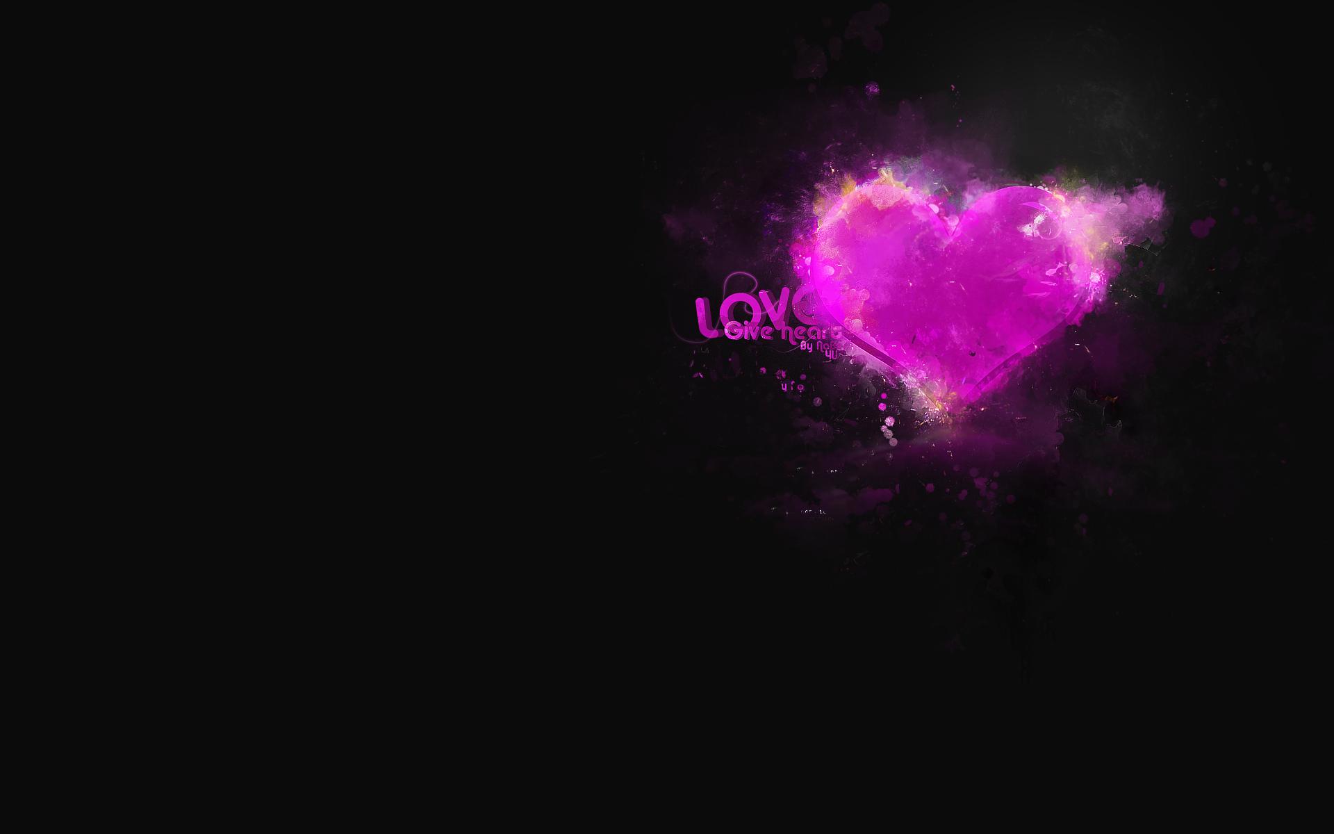 сердце на черном фоне, heart wallpaper, скачать