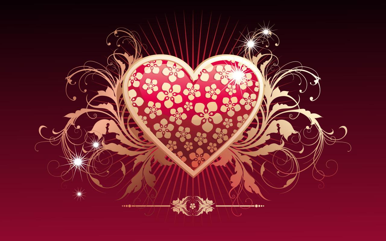 красочное сердце, скачать обои для рабочего стола, heart wallpaper