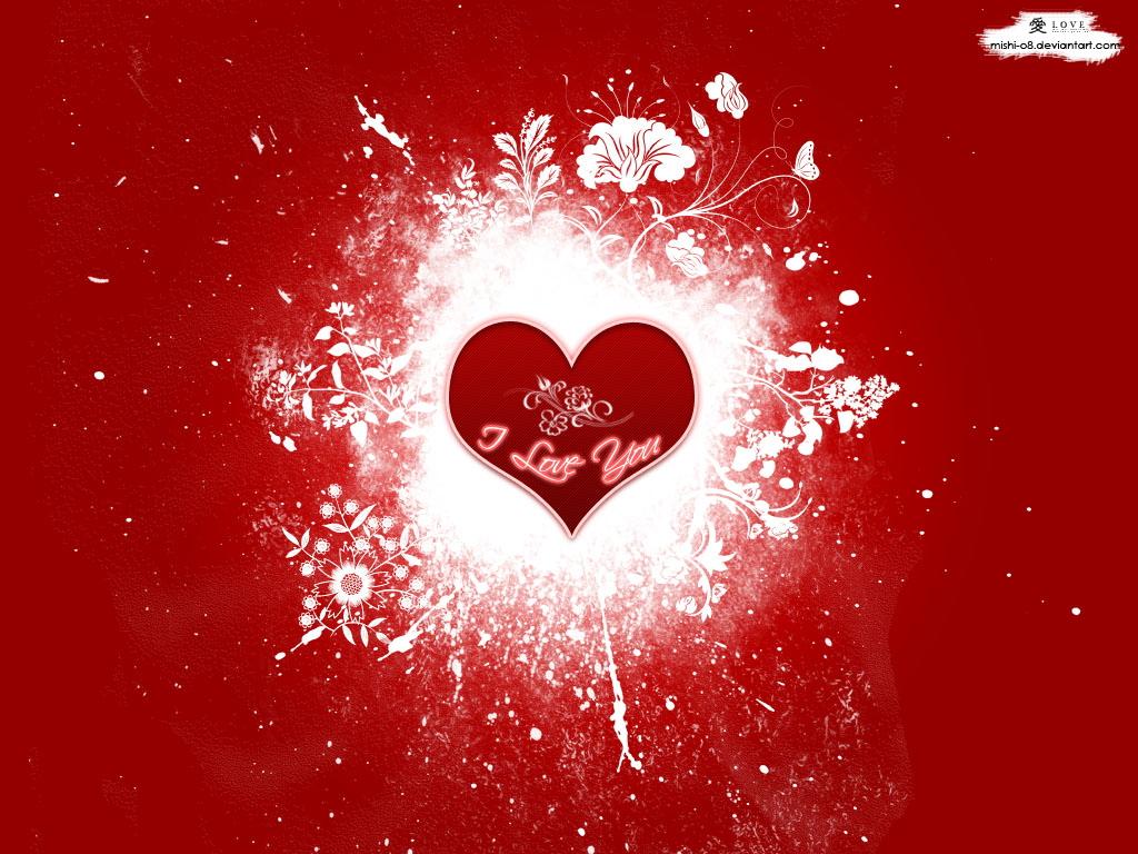red love wallpaper, скачать фото, обои для рабочего стола, сердце