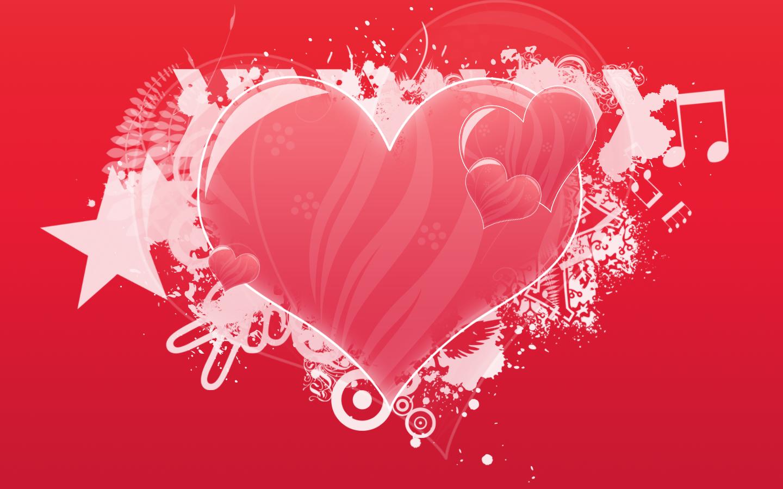 сердце на красном фоне, скачать фото, обои на рабочий стол