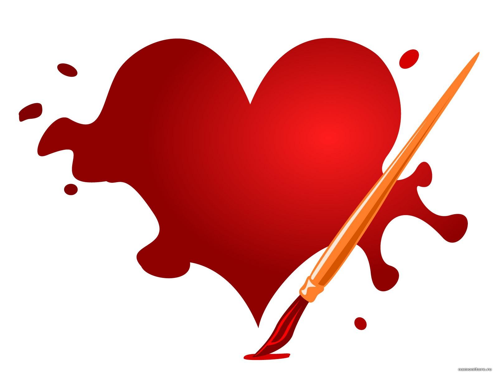 сердце из краски, скачать фото, клякса, heart, love