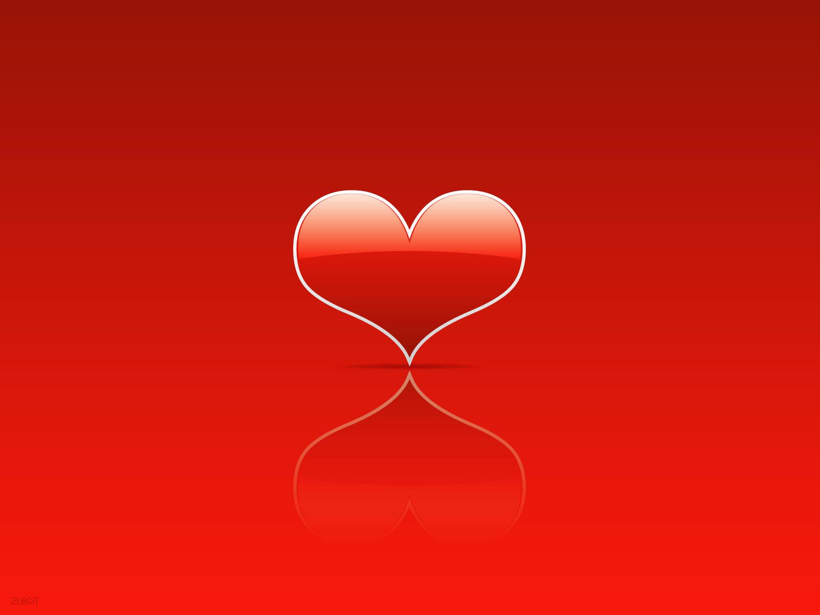 Красное сердце, скачать фото, обои для рабочего стола, red heart wallpaper