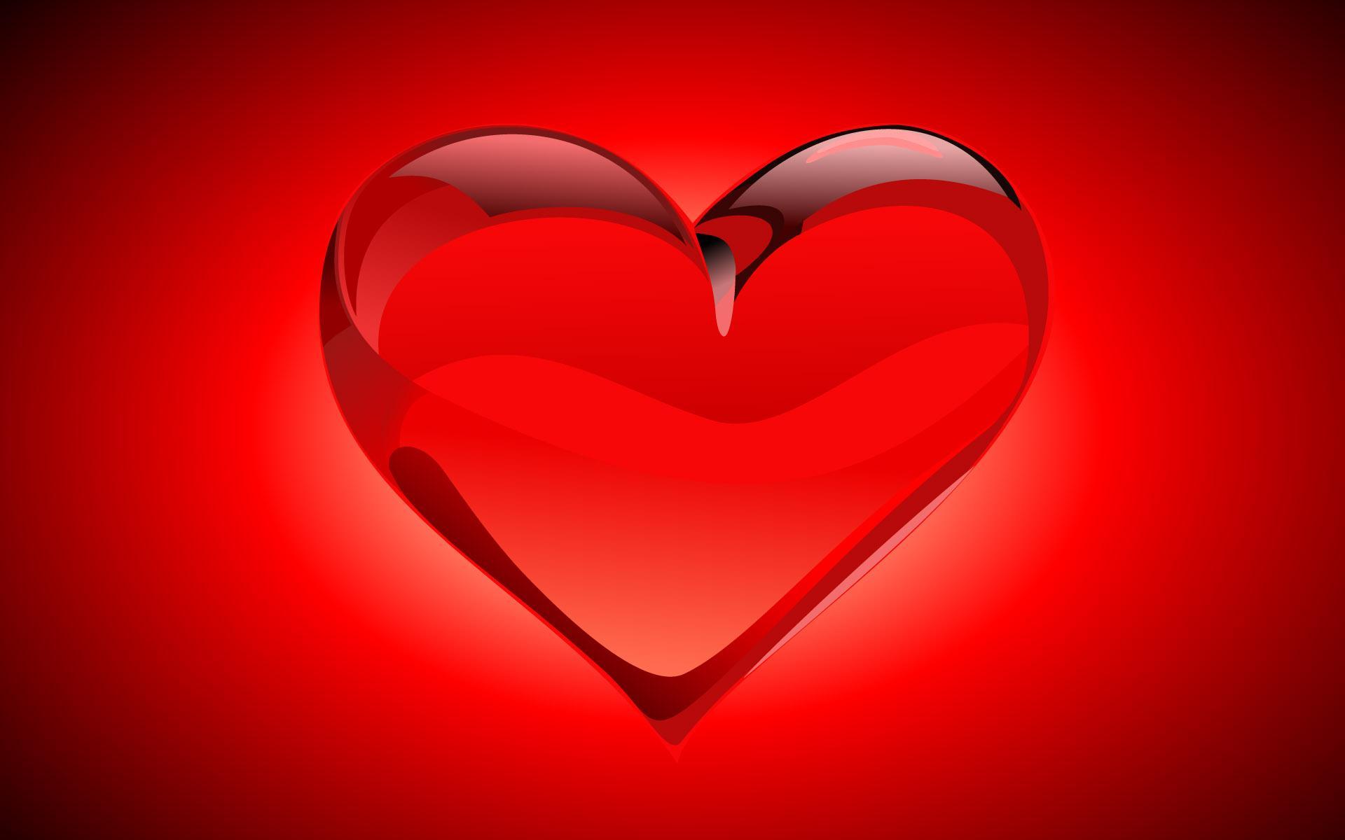 red glass wallpaper, heart, скачать фото, обои для рабочего стола, сердце красное