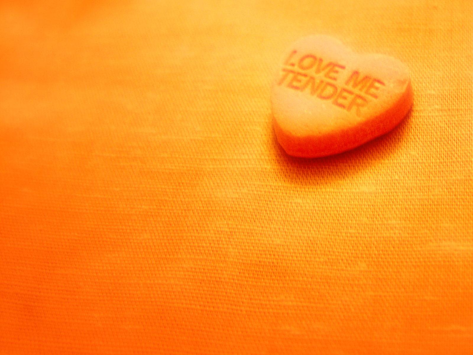 оранжевые обои, orange wallpaper, скачать фото, обои для рабочего стола, сердце
