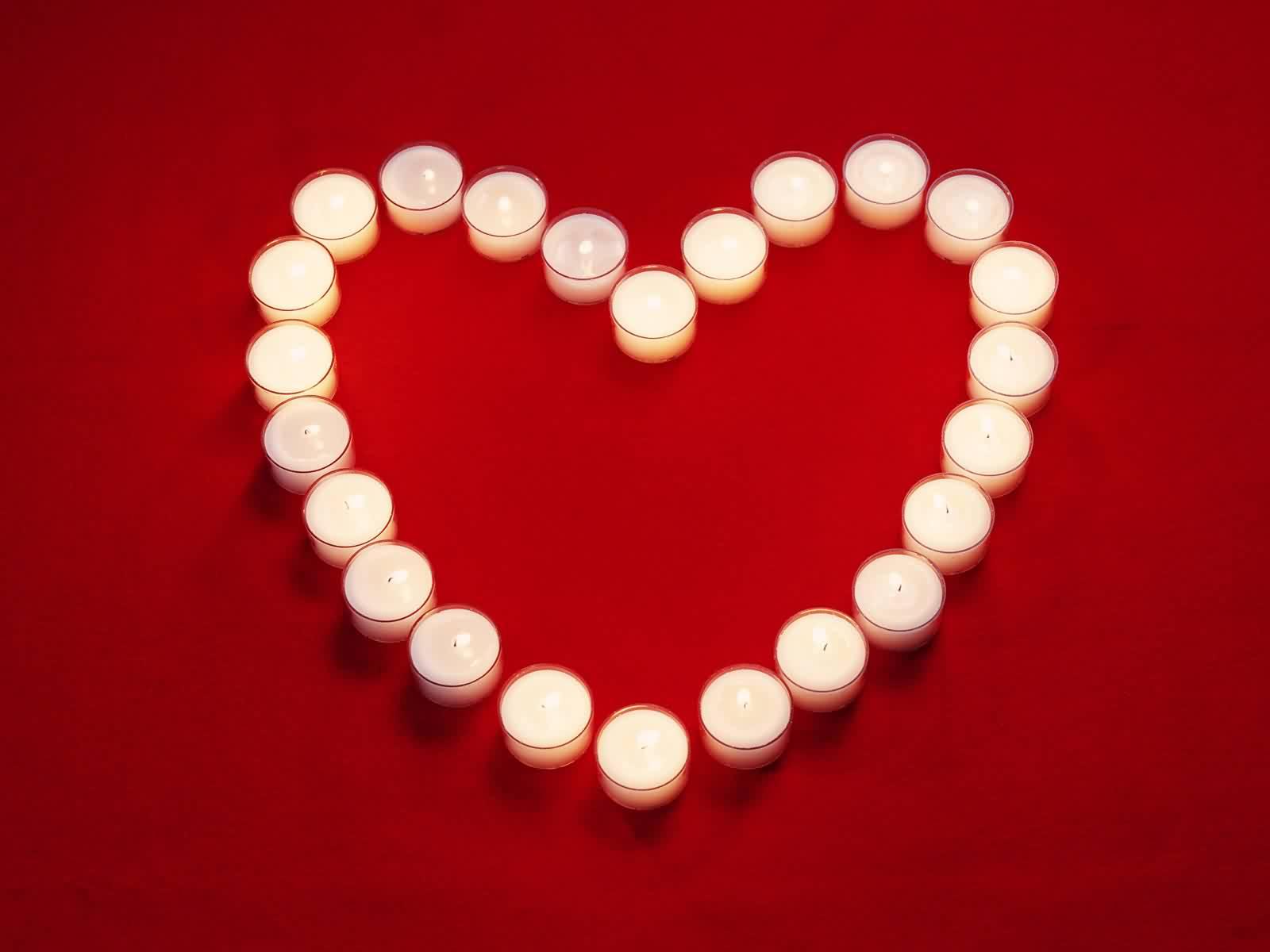сердце из свечек, скачать фото, обои для рабочего стола, heart