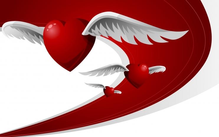 сердце с крыльями, скачать фото, heart wallpaper