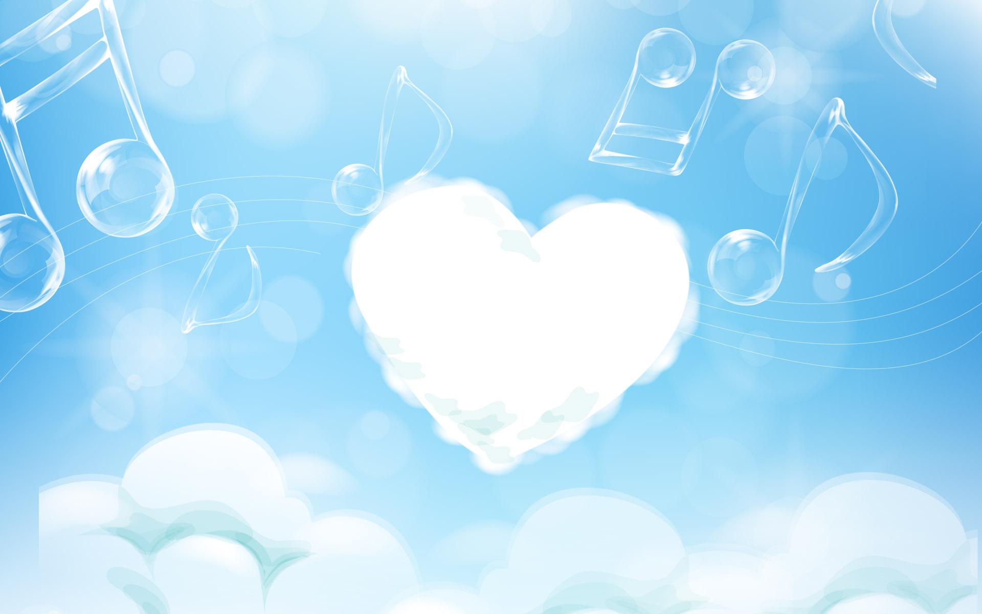 Сердце из облака, рисунок, фото, обои для рабочего стола