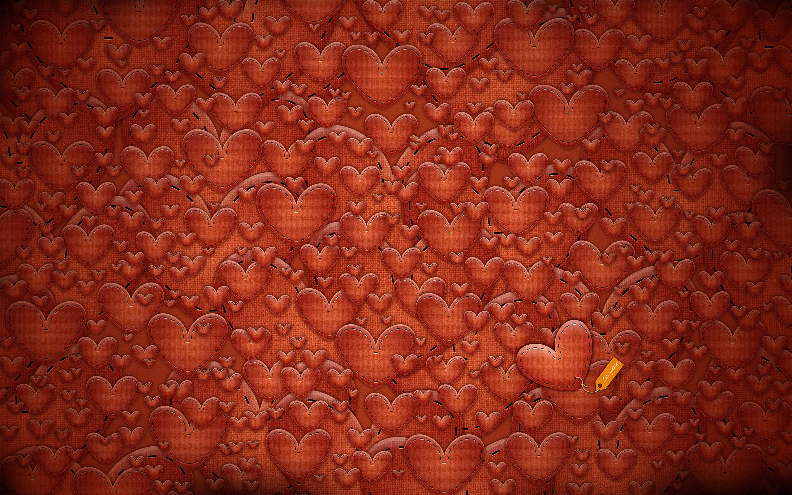 много сердец, текстура, фото, обои для рабочего стола, сердца, скачать
