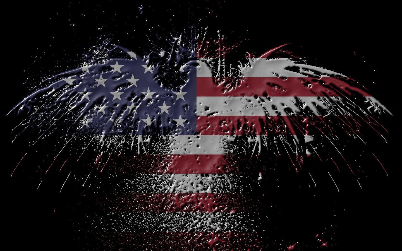 флаг америки в форме орла, скачать фото, обои для рабочего стола