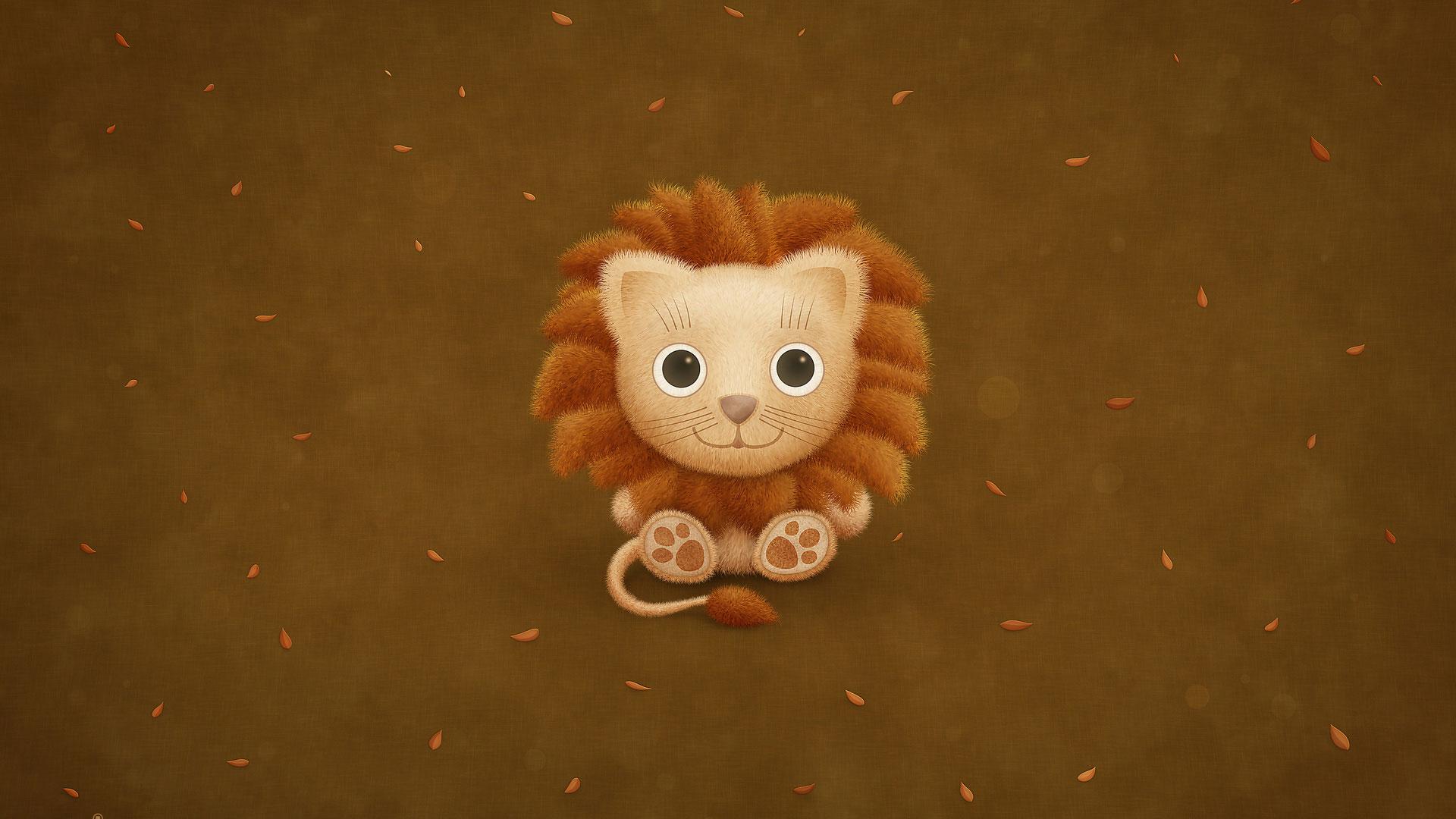 львенок, обои на рабочий стол, lion wallpaper