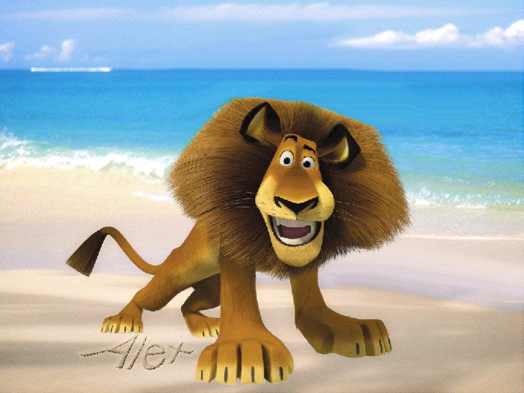 lion Alex, лев Алекс, фото, мультфильм Мадагаскар, скачать обои для рабочего стола