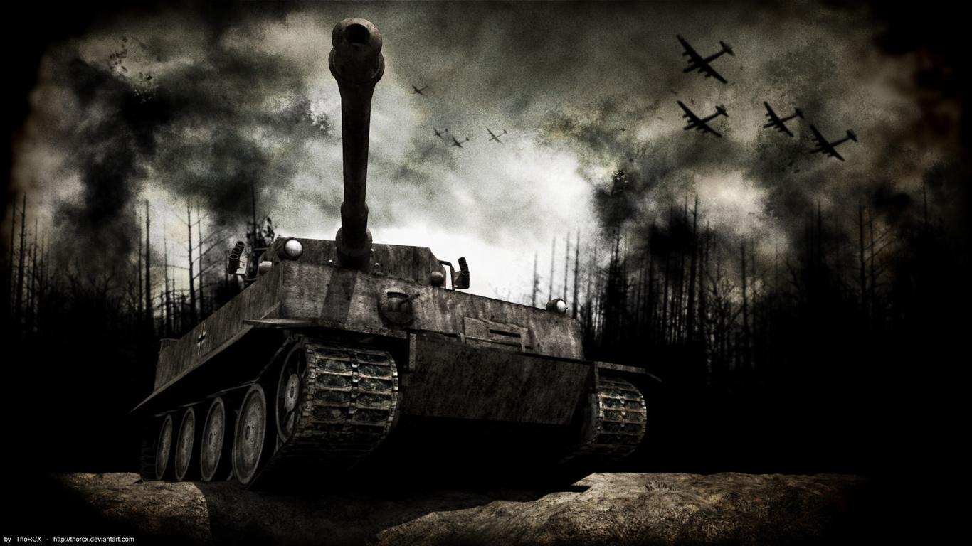 Тигр, немецкий танк, скачать фото, обои для рабочего стола, tanks wallpaper