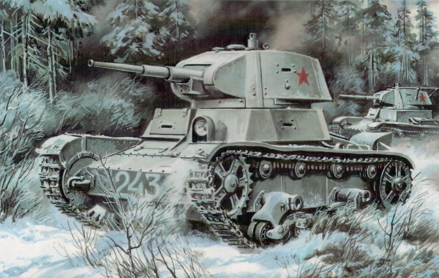 советский танк, в зимнем камуфляже, скачать бесплатно, обои для рабочего стола