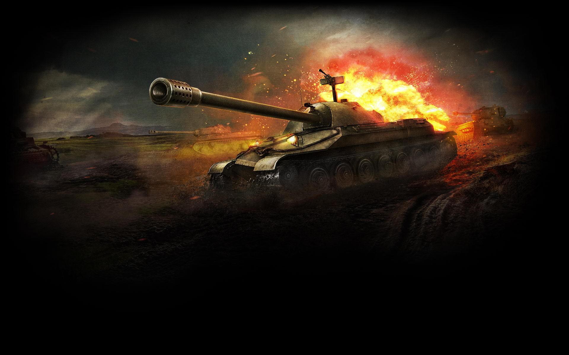 Танк в бою, огонь, скачать фото, обои для рабочего стола, tank wallpaper