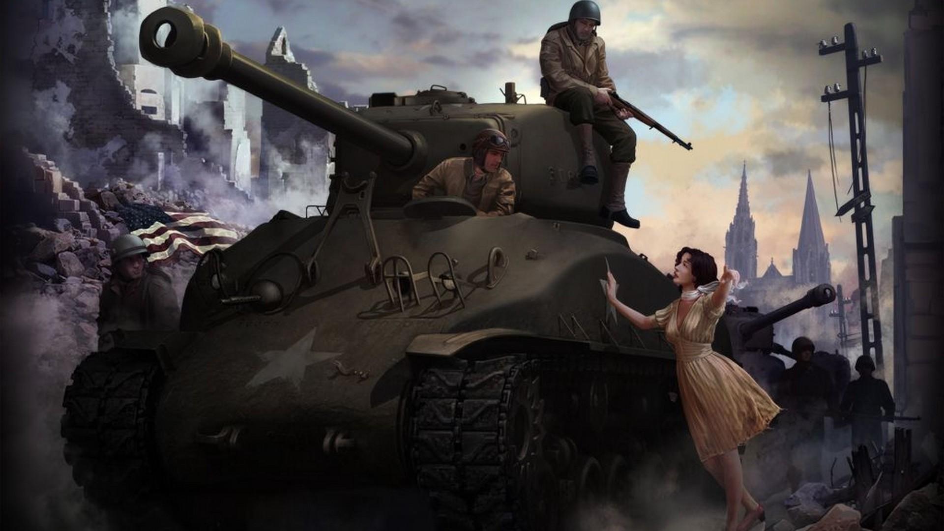Шерман танк, скачать фото, рисунок, обои на рабочий стол