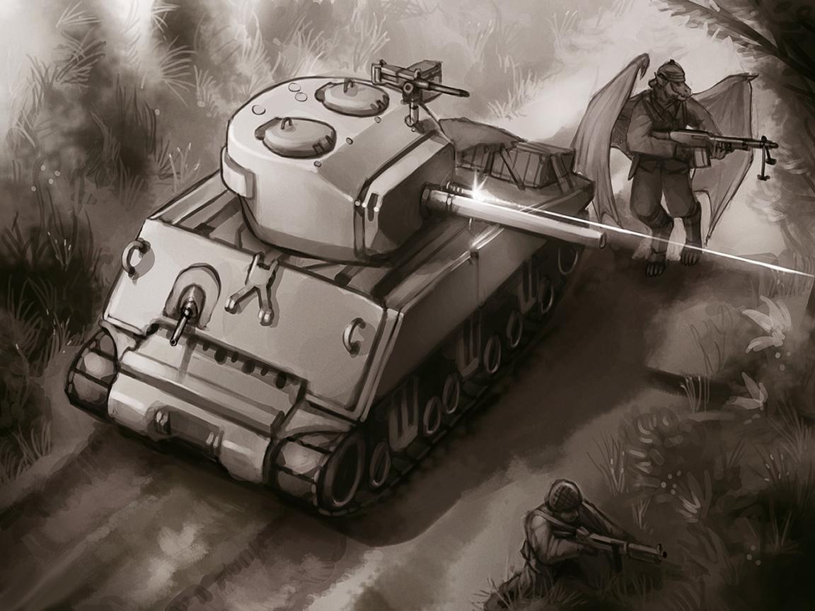фантастический танк, скачать обои для рабочего стола