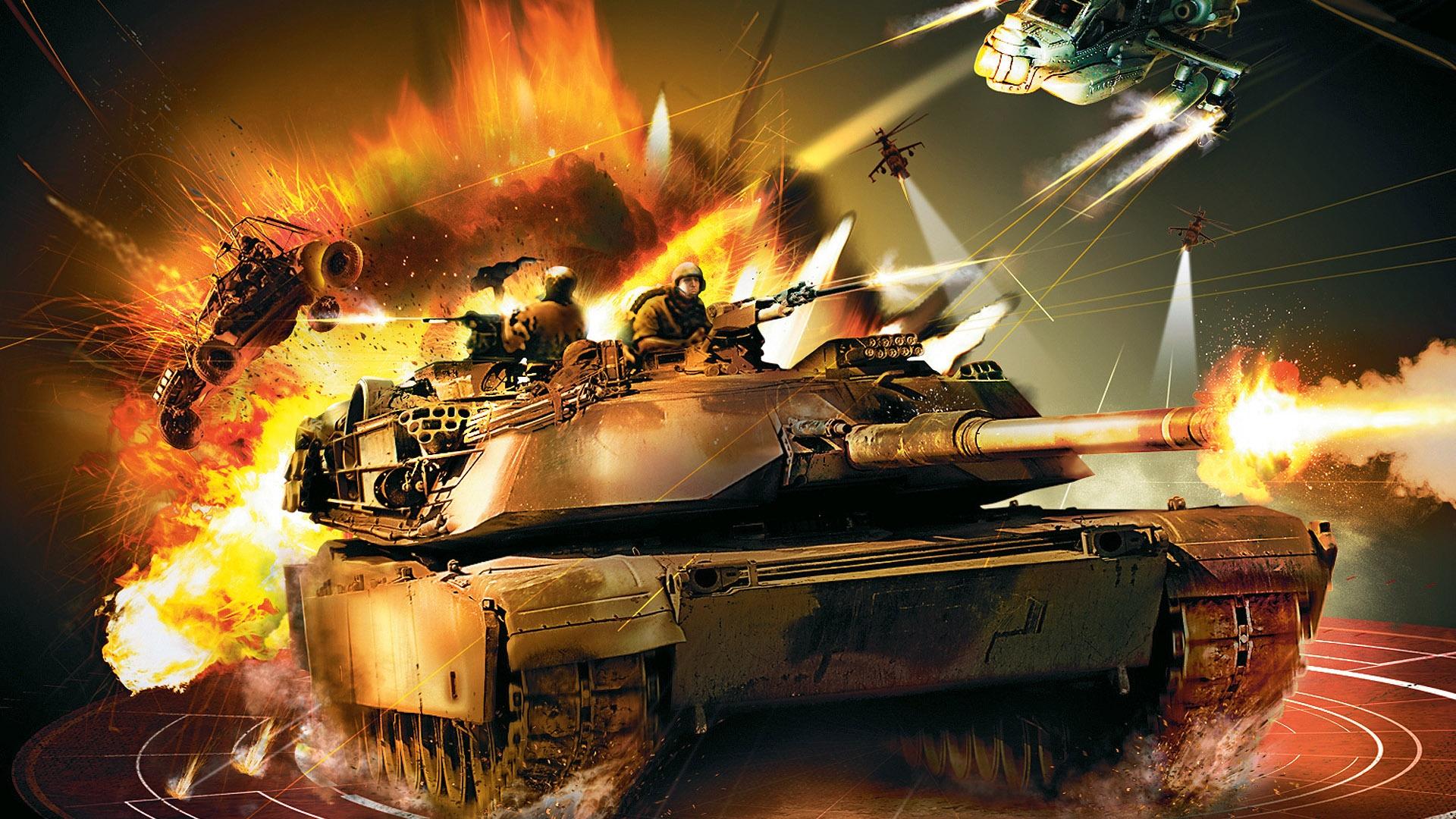 обои для рабочего стола, танк в бою, скачать фото