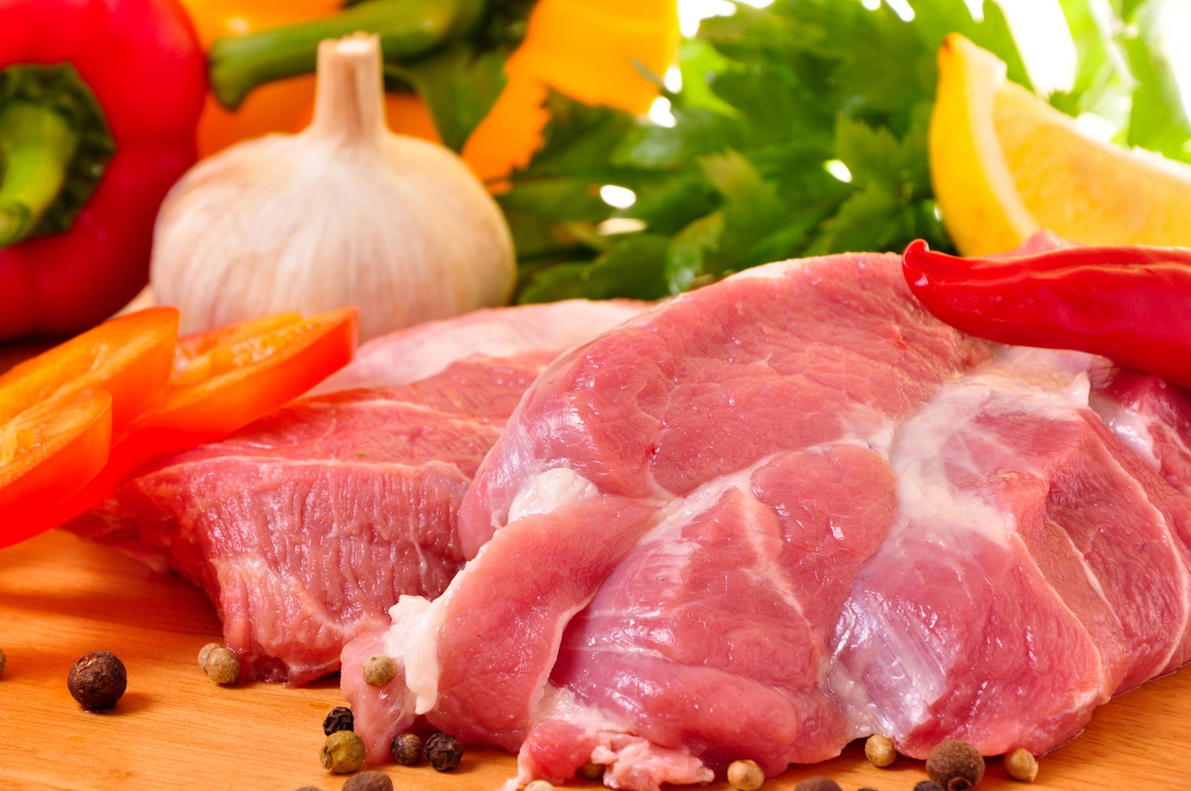 свежее мясо, кусочками, скачать фото, обои для рабочего стола