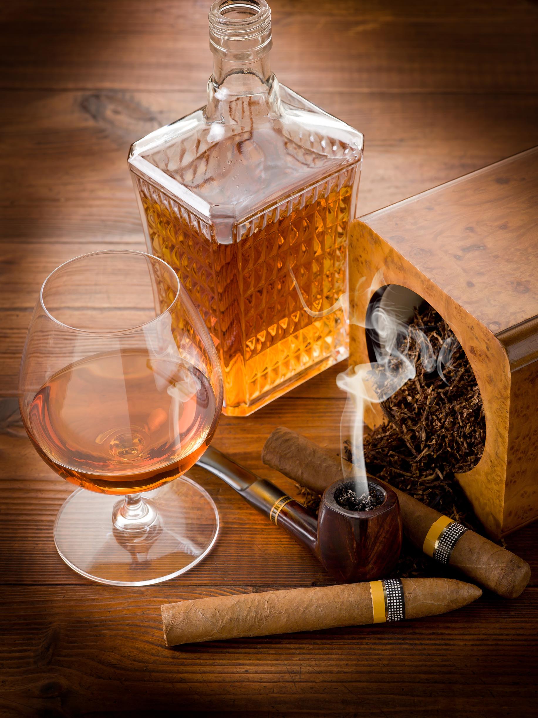 коньяк и сигары, фото обои для рабочего стола, клипарт, скачать бесплатно