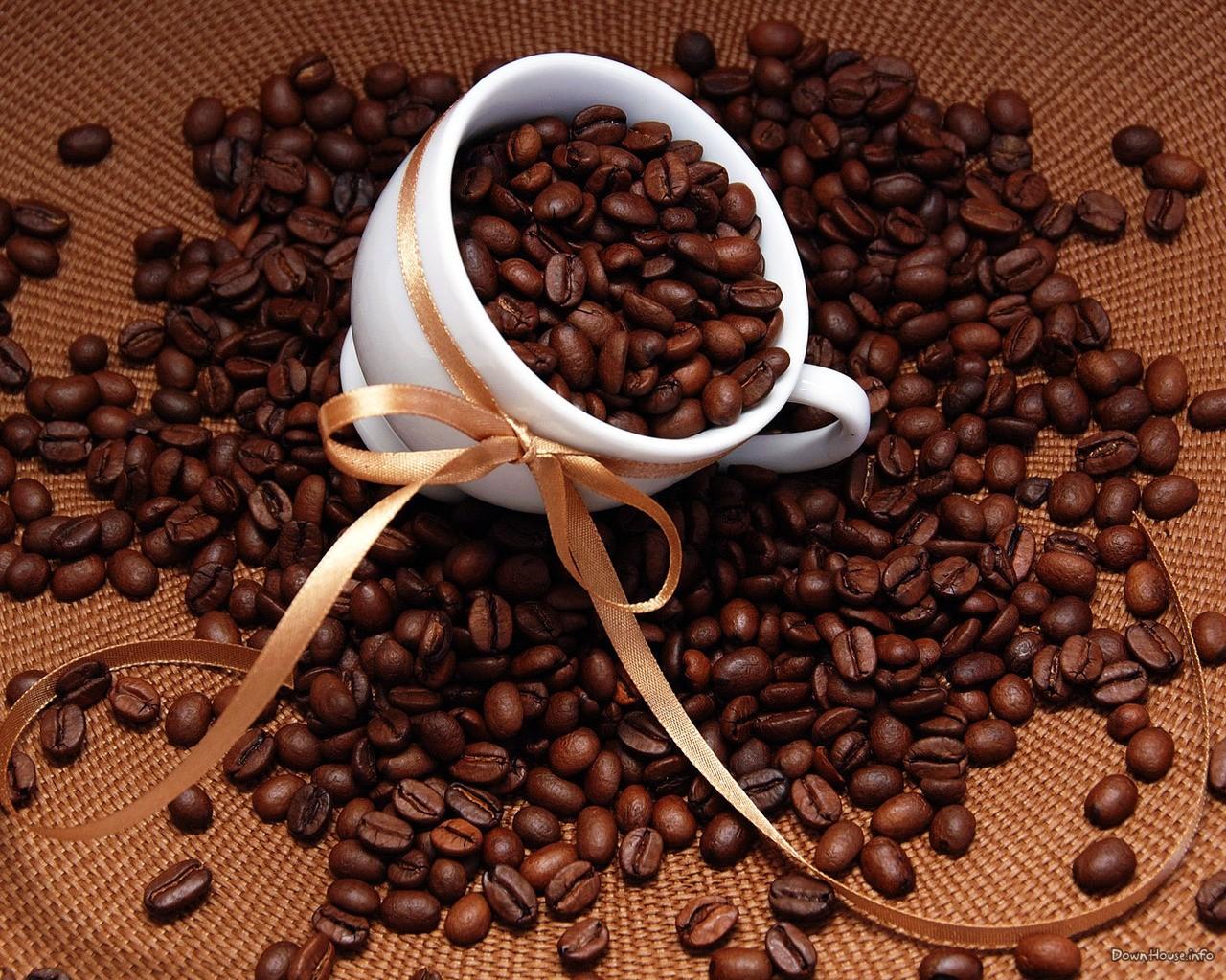 кофе, кофейные обжаренные зерна, скачать фото, обои для рабочего стола, coffee