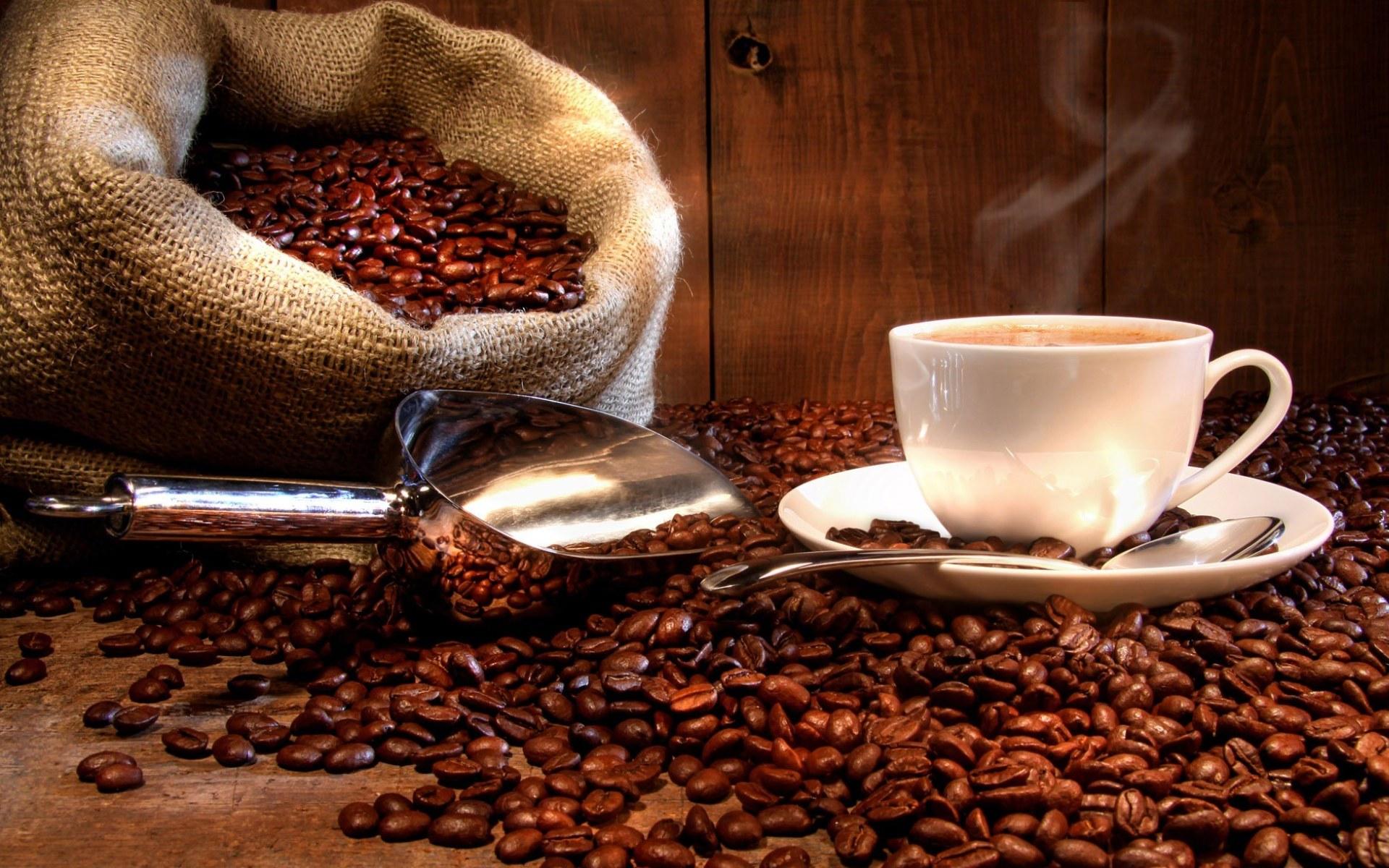 обои на рабочий стол, кофе, кофейные зерна, скачать фото