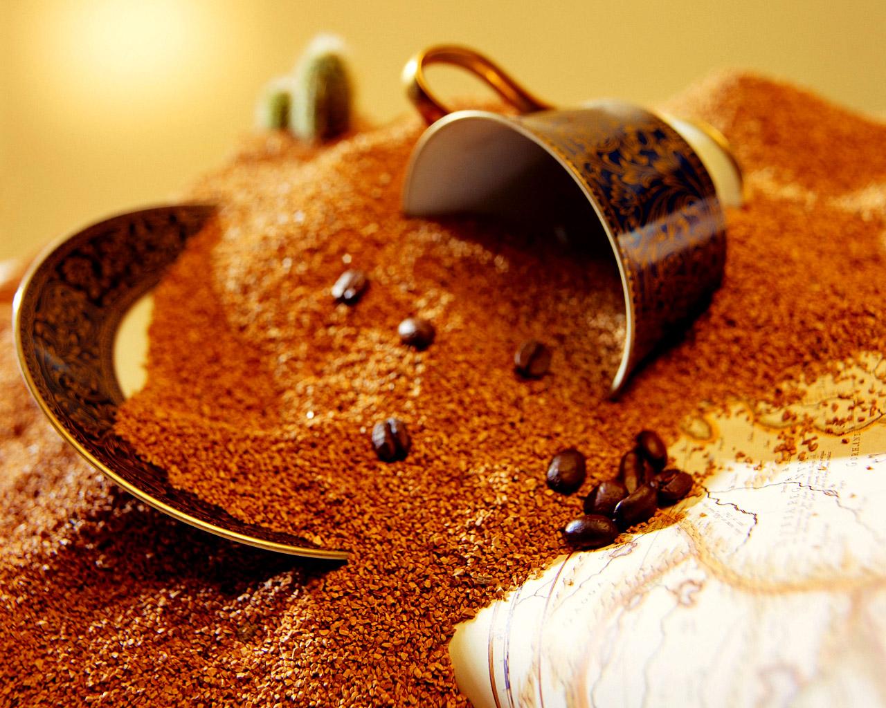 молотый кофе, скачать фото, обои для рабочего стола