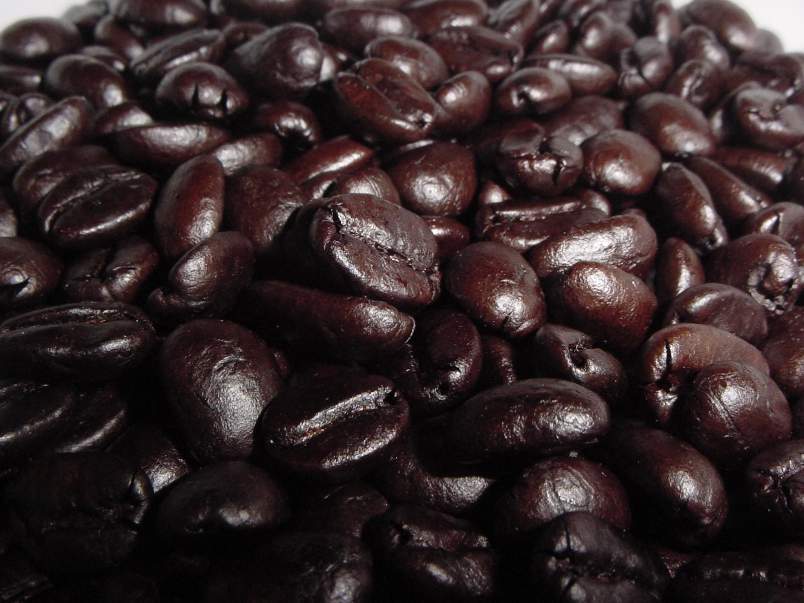 черные зерна кофе, скачать фото, обои на рабочий стол, coffee wallpaper