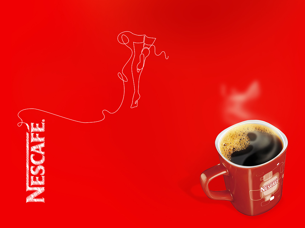 red wallpaper, скачать обои для рабочего стола, Nescafe