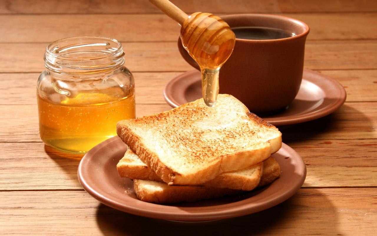 хлеб с медом, скачать фото, обои на рабочий стол