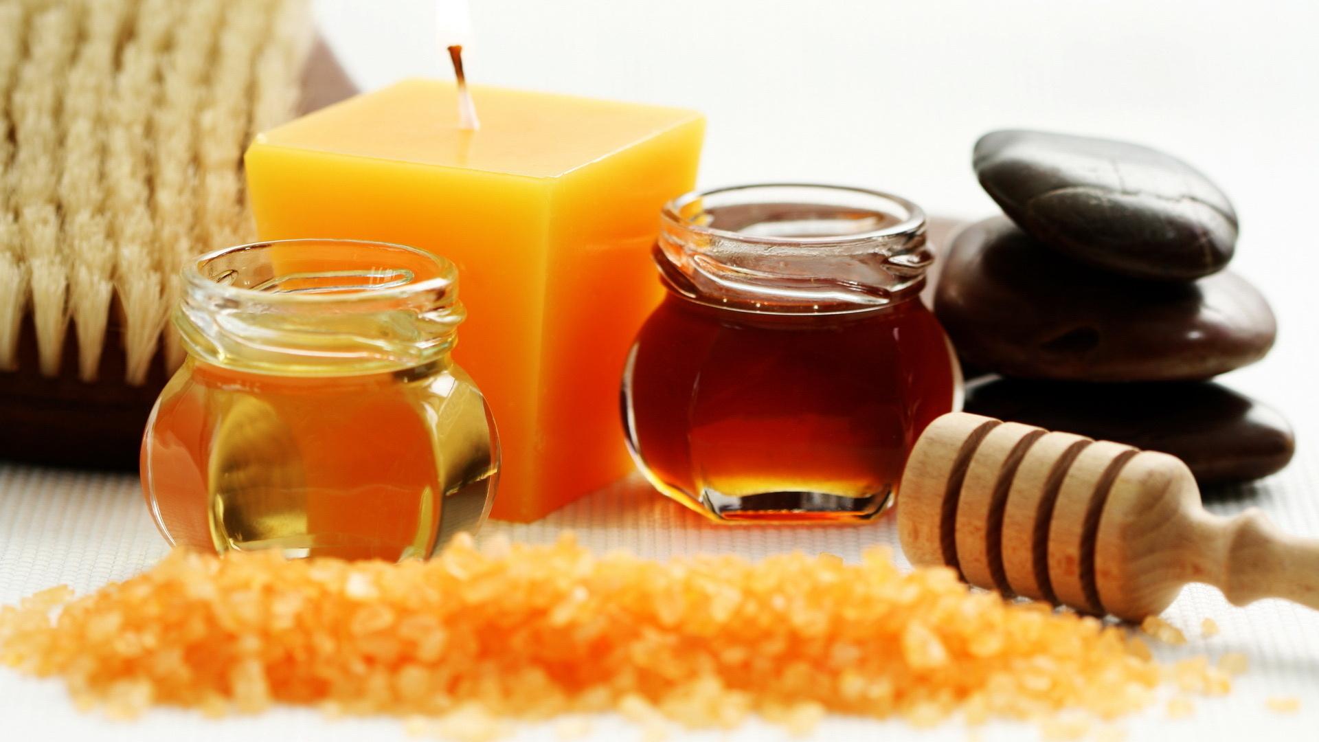 мед, свечка, скачать фото, обои на рабочий стол