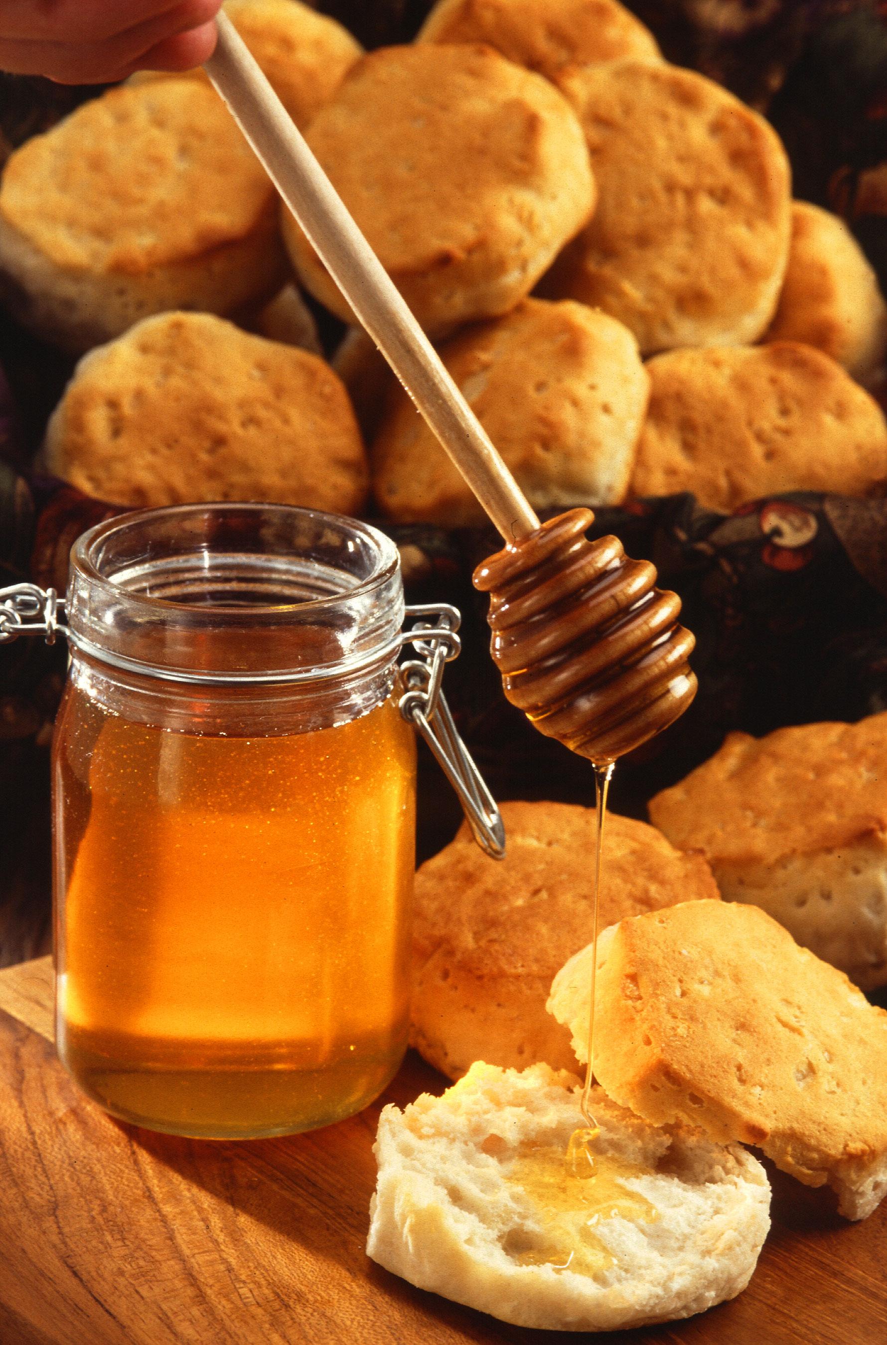 мед, банка меда, мед с булочками, мед с хлебом, скачать фото