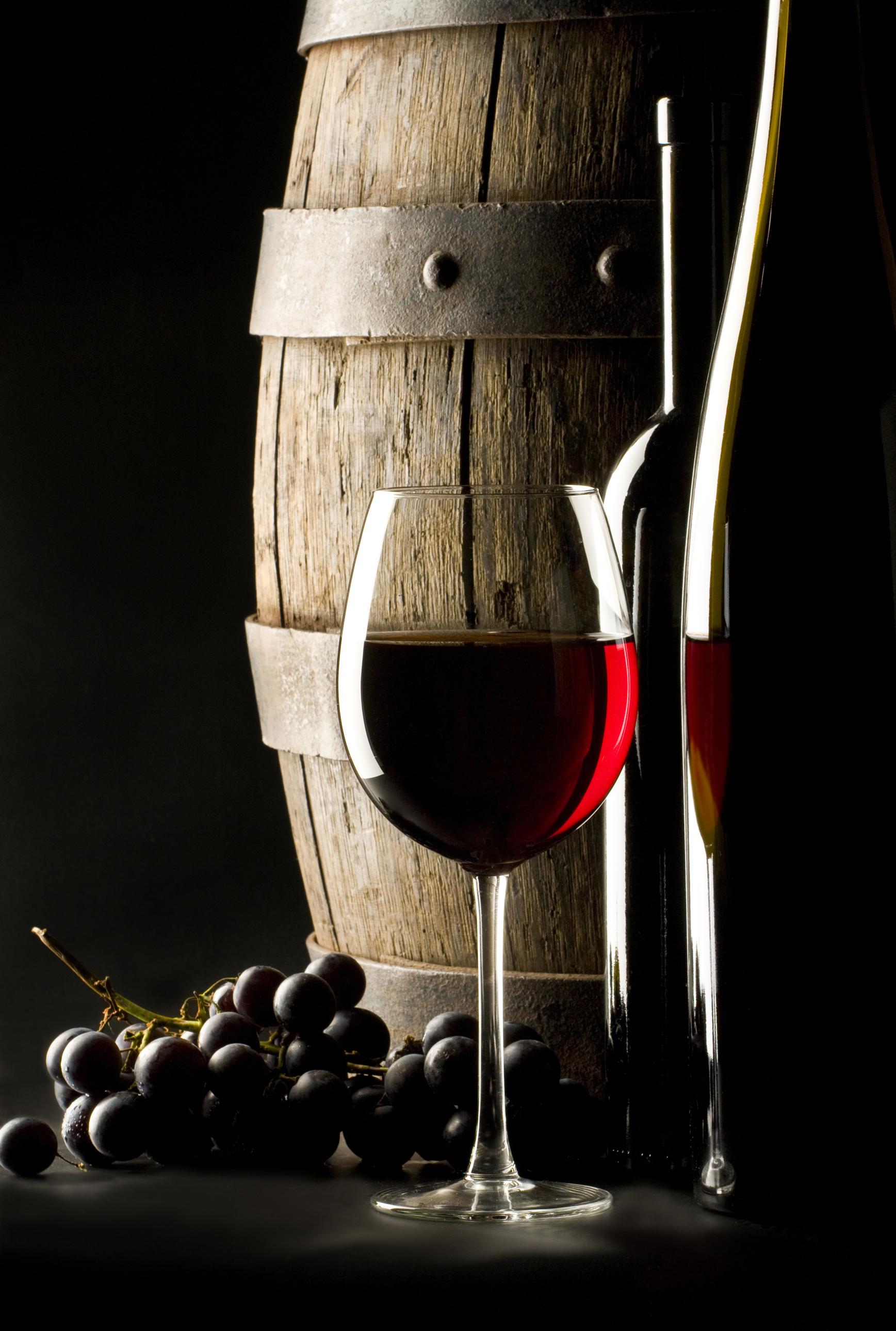 бочка, фино, красное вино, виноград, скачать обои для рабочего стола