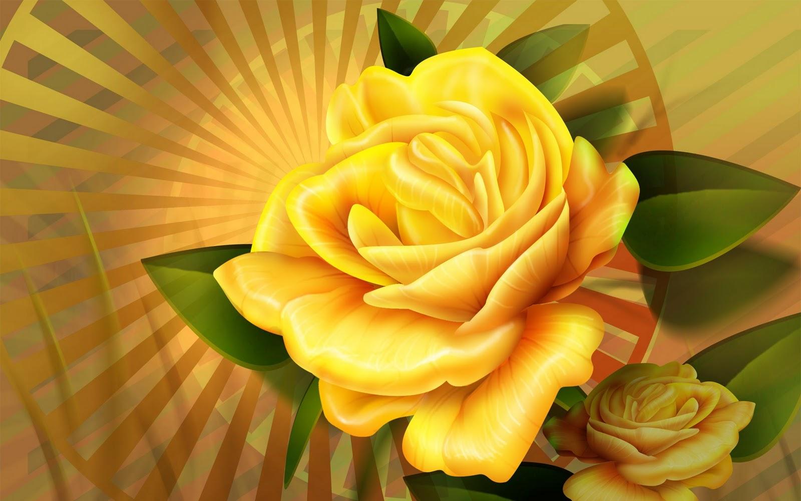 желтая большая роза на фоне солнца, скачать фото, обои для рабочего стола