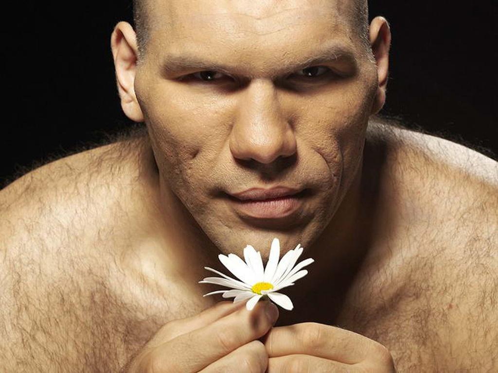 Николай Валуев и цветок ромашка, скачать фото, обои для рабочего стола