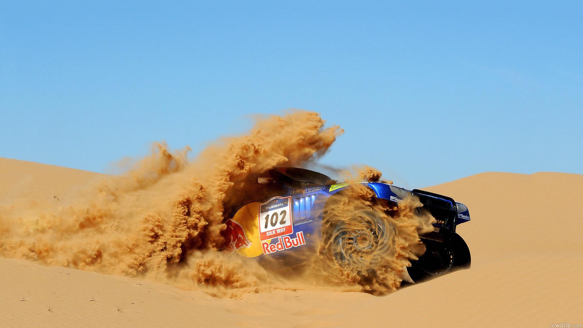Дакар, пустыня, скачать фото, машина, rally Dakar, обои на рабочий стол