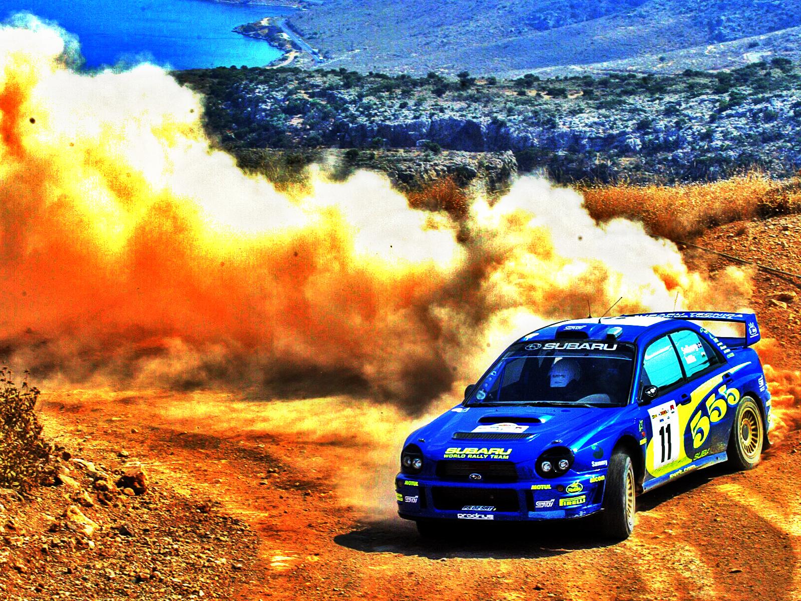 Субару авто, ралли, пыль и пустыня, песок, rally car SUBARU
