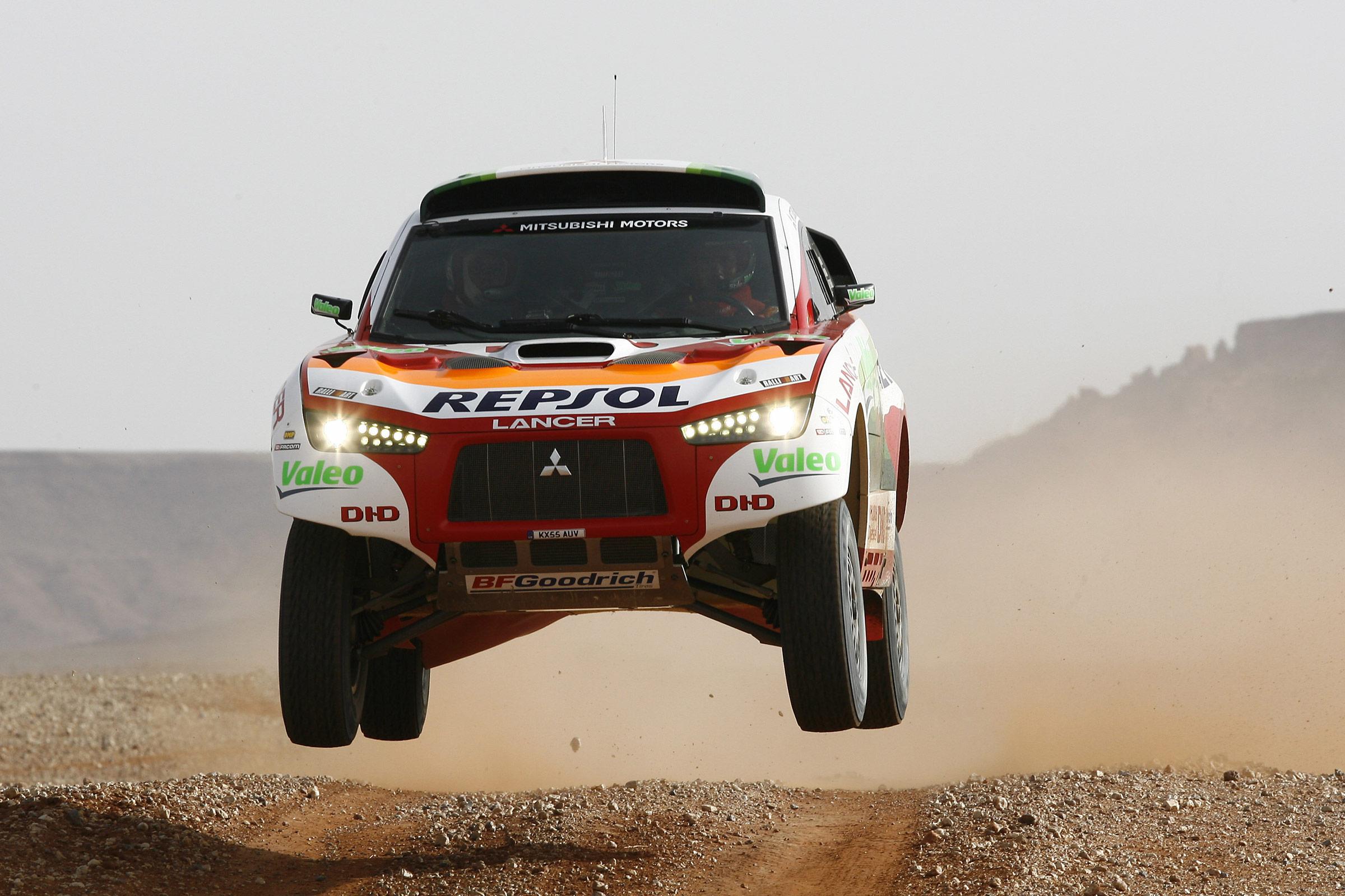 Dakar, car rally, MITSUBISHI Lancer, скачать фото, обои для рабочего стола, Дакар