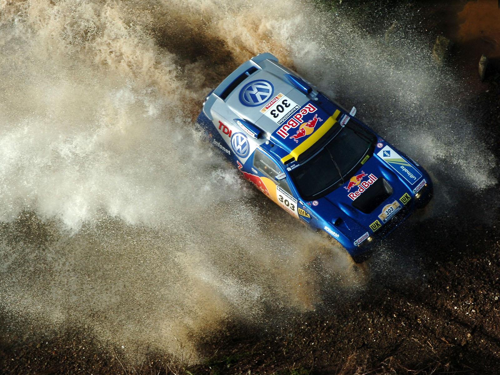 Дакар, Wolksvagen Dakar rally car, авто, обои для рабочего стола, вид сверху