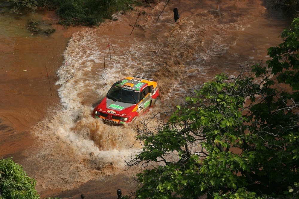 Даккар, ралли, водная преграда. речка, скачать фото