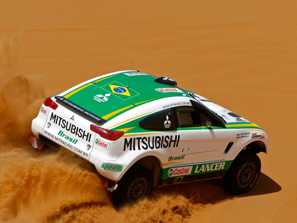 Dakar, car rally, MITSUBISHI, скачать фото, Дакар, авто, песок, пустыня