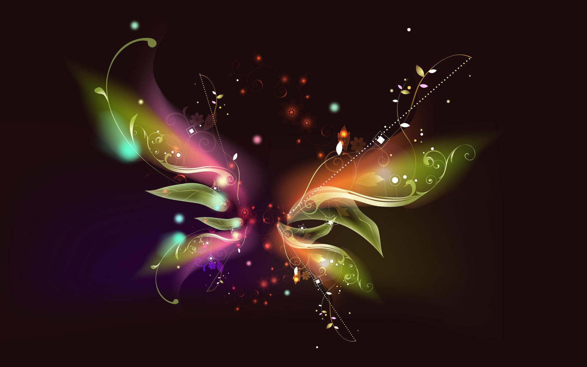 радужная бабочка на черном фоне, скачать фото, обои для рабочего стола